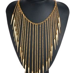 New Gold Tassel Necklace